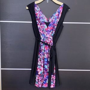 Express Black &Floral Sleeveless Dress